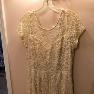 American Rag white lace dress, excellent condition